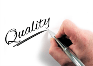 """hand writing """"quality"""" with a pen"""