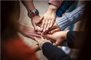community, hands joined, belonging, feel part of a community