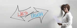 lady, whiteboard, truth , lies, integrity
